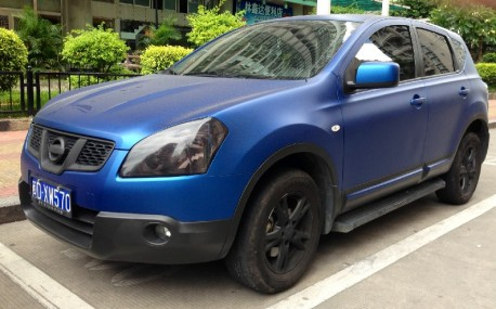 Nissan Qashqai is matte Blue with some Black in China