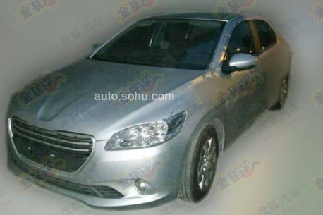 Spy Shots: Peugeot 301 is getting ready for the China car market