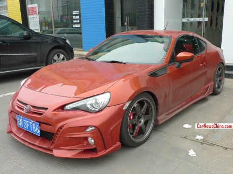 Two tuned Toyota 86's got Licenses in China