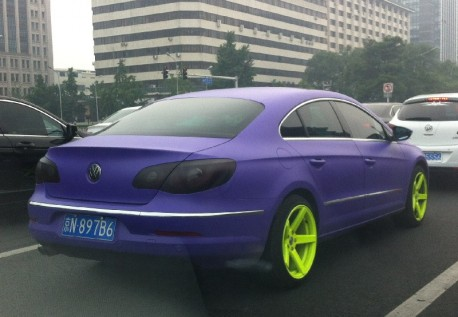 Volkswagen Passat CC is matte Purple in China
