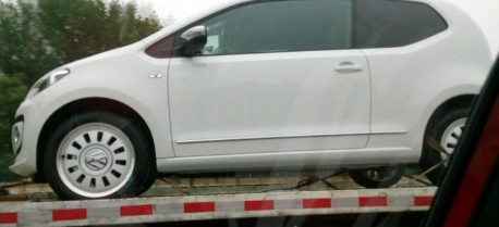 Spy Shots: Volkswagen Up! on a Truck in China