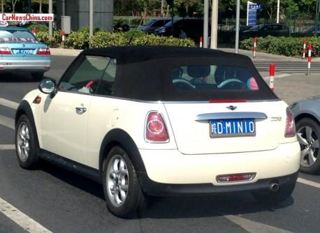 Mini Cooper Cabrio has a License in China