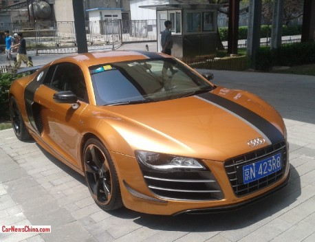 Audi R8 GT is Gold with a License in China
