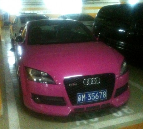 Audi TT is Pink in China