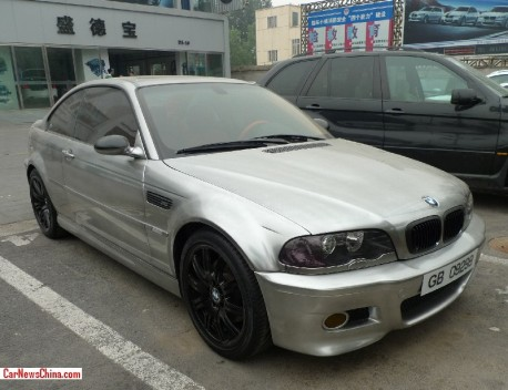 Spotted in China: E46 BMW M3 in matte Chrome