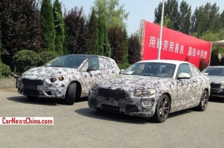 Spy Shots: BMW 1-Series GT & BMW 2-Series Coupe testing in China