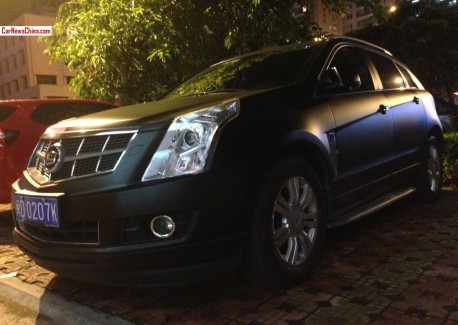 Cadillac SRX is matte black in China