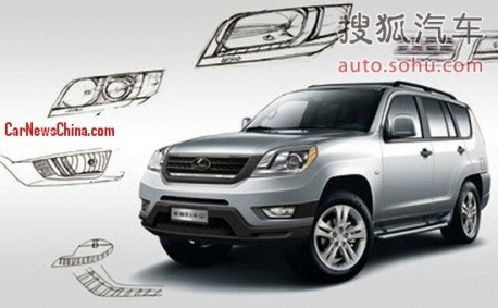 Spy Shots: facelift for the Changfeng Liebao CS6 in China