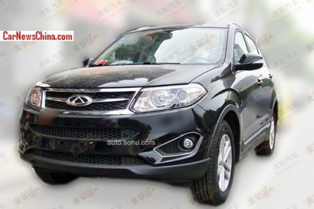 Spy Shots: new Chery Tiggo 5 is Naked in Black in China