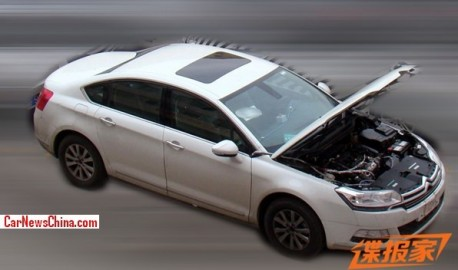 Spy Shots: 1.6 turbo for the Citroen C5 in China