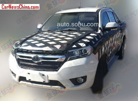 Spy Shots: new Foton pickup truck testing in China