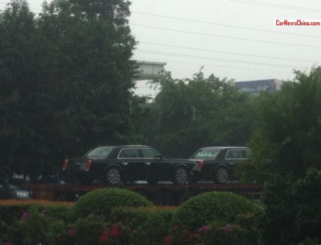 Spy Shots: double Hongqi L5 on a Truck in China