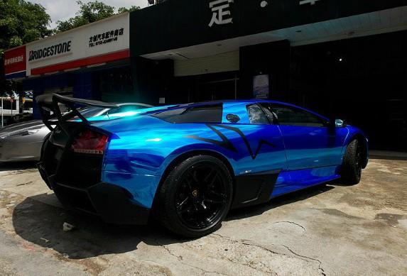 Lamborghini Murcielago Sv Is Shiny Blue In China Carnewschina Com