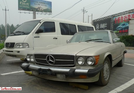Spotted in China: R107 Mercedes-Benz 560 SL