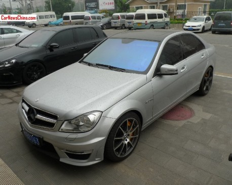Mercedes-Benz C63 AMG has a License and different alloys in China
