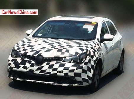 Spy Shots: facelift for the MG5 in China