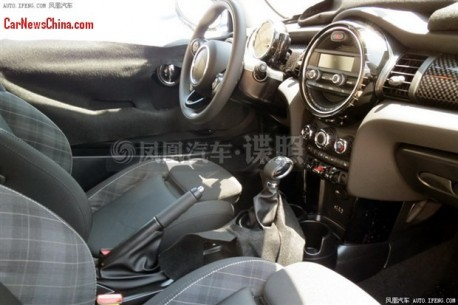 Spy Shot: interior of the new Mini completely exposed in China