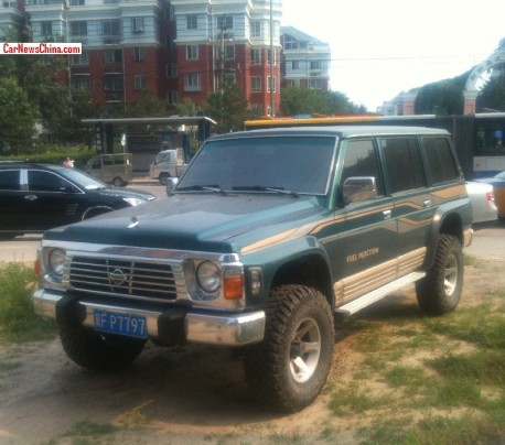 Spotted in China: fourth generation Nissan Patrol in green