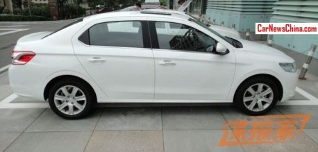 Spy Shots: Peugeot 301 is Naked in White in China