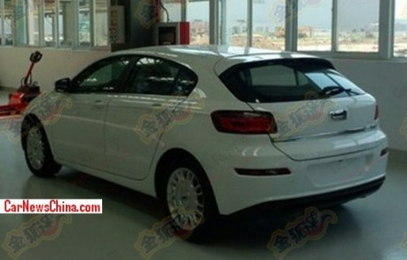 Spy Shots: Qoros 3 hatchback seen in the Factory in China