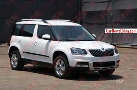 Spy Shots: stretched Skoda Yeti is ready for the China car market