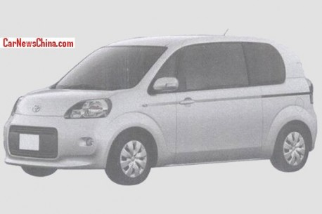 Patent Applied: Toyota Porte & Toyota Spade to come to China