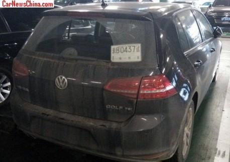 Spy Shots: China-made Volkswagen Golf 7 seen in Beijing