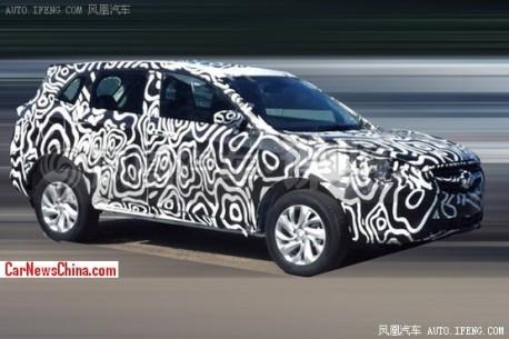 Spy Shots: Beijing Auto C51X SUV seen testing in China
