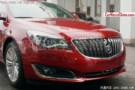 Spy Shots: facelifted Buick Regal testing in China