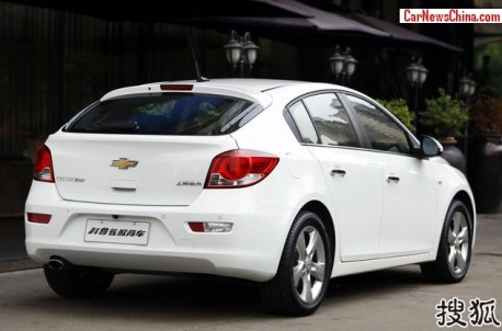 Chevrolet Cruze hatchback hits the China car market