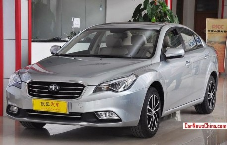 Facelifted FAW-Besturn B50 hits the China car market