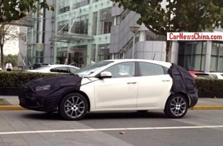 Spy Shots: Fiat Viaggio hatchback testing in China