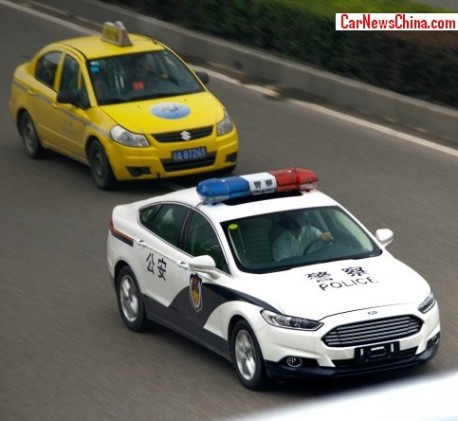 Ford Mondeo police car in China
