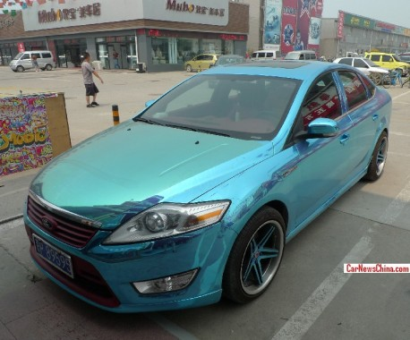 Ford Mondeo is shiny blue in China