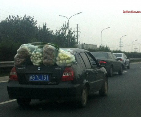Transporting vegetables the Chinese Way