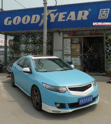 Honda Spirior is matte light blue and white in China