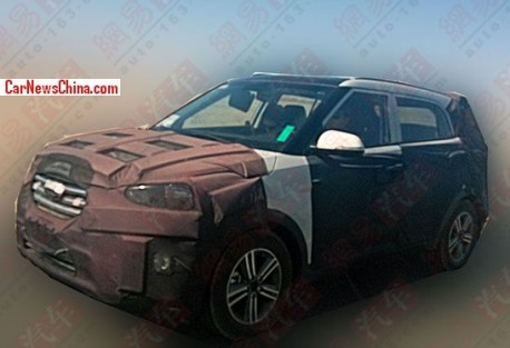 Spy shots: Hyundai ix25 SUV testing in China