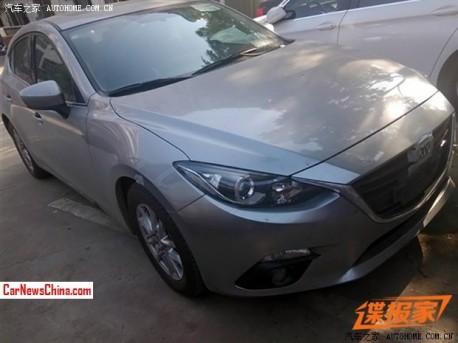 Spy Shots: new Mazda 3 hatchback testing in China