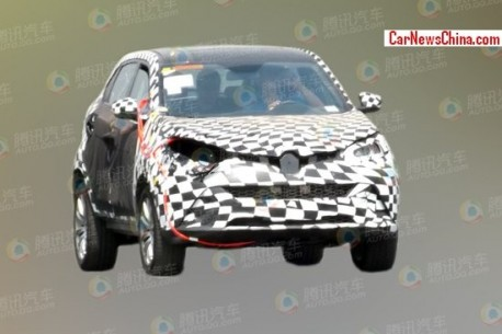 Spy Shots: MG CS SUV loses some Camouflage in China