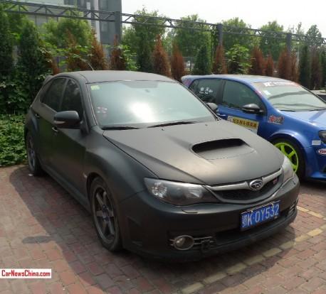 Subaru Impreza WRX STI is matte black in China