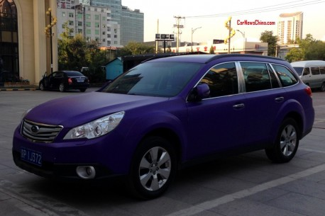 Subaru Outback is matte purple in China