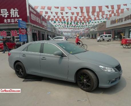 Toyota Reiz is matte gray in China