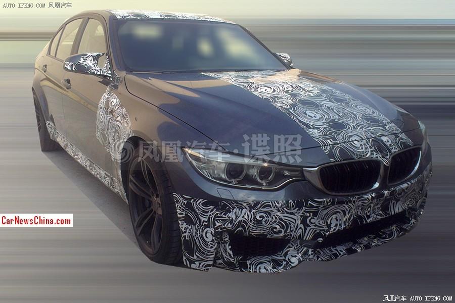 2014 - [BMW] M3 & M4 [F80/F82/F83] - Page 15 2014-bmw-m3-china-spy-1