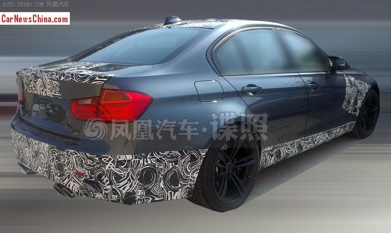 2014 - [BMW] M3 & M4 [F80/F82/F83] - Page 15 2014-bmw-m3-china-spy-3