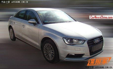 Spy Shots: China-made Audi A3 sedan is getting ready for the Chinese car market