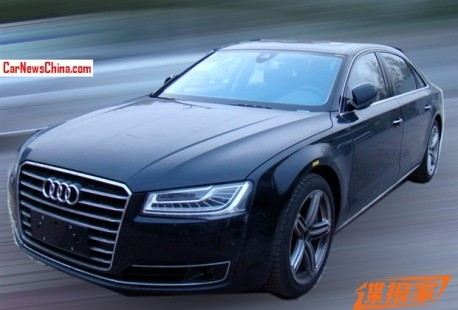 Spy Shots: facelifted Audi A8 testing in China