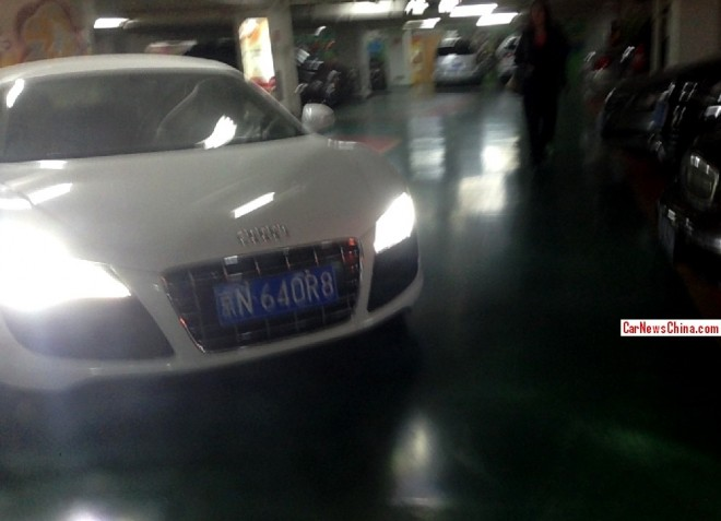 White Audi R8 has a License in China