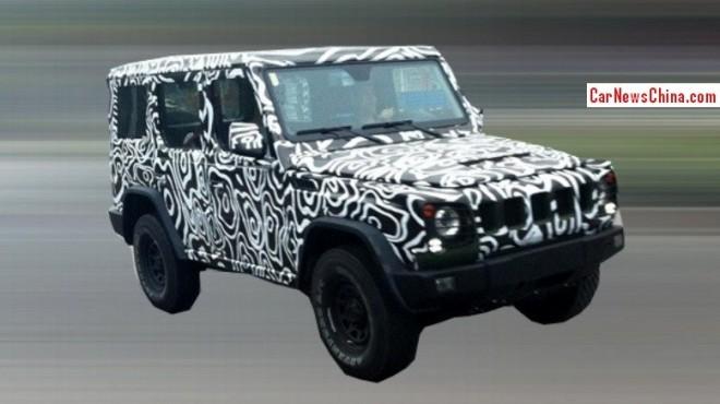 Spy Shots: Beijing Auto B80 seen testing in China again
