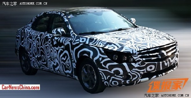 Spy Shots: psychedelic Beijing Auto C60 testing in China