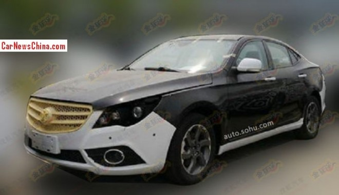 Spy Shots: Beijing Auto C60 loosing some camouflage in China
